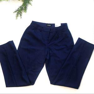 Express | Publicist Ankle Mid Rise Pants Blue 6L